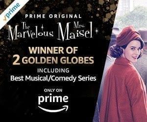The Marvelous Mrs. Maisel, winner of two 2018 Golden Globes Awards