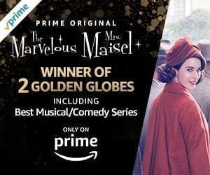 The Marvelous Mrs. Maisel, winner of two 2018 Golden Globes Awards