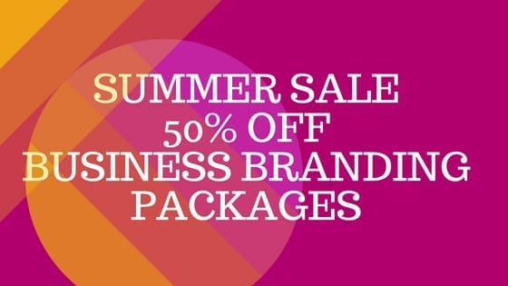 Summer Sale 50% off Business Branding Packages